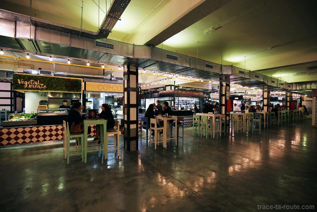 Intérieur du Mercado de la Merced, Malaga - bars à tapas