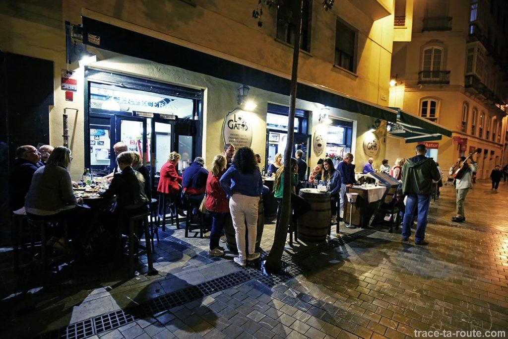 Terrasse Los Gatos - bar à tapas restaurant, Malaga