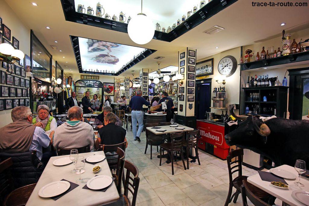 Salle intérieur Los Gatos - bar à tapas restaurant, Malaga