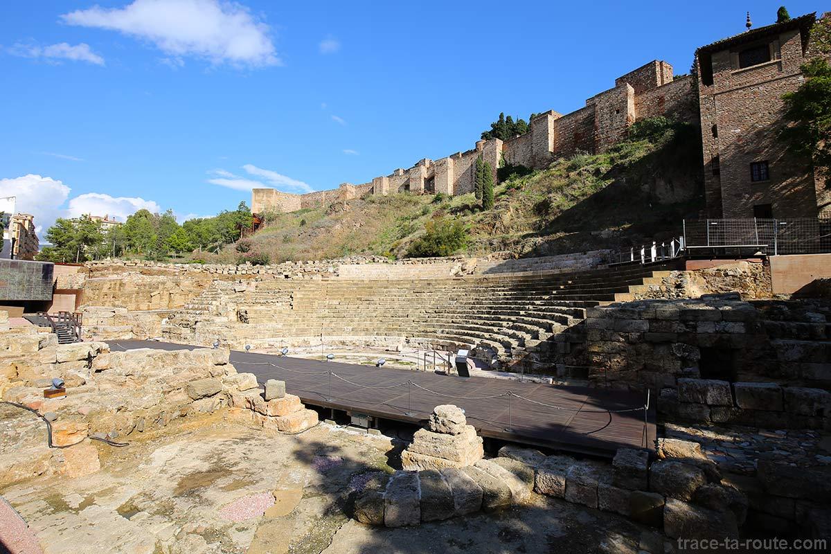 Théâtre Romain de Malaga (teatro romano) et Alcazaba