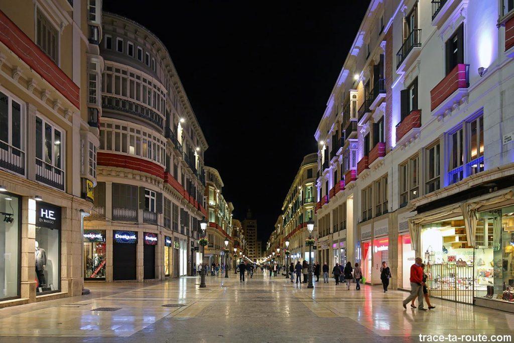 Rue commerçante Calle Marqués de Larios, Malaga