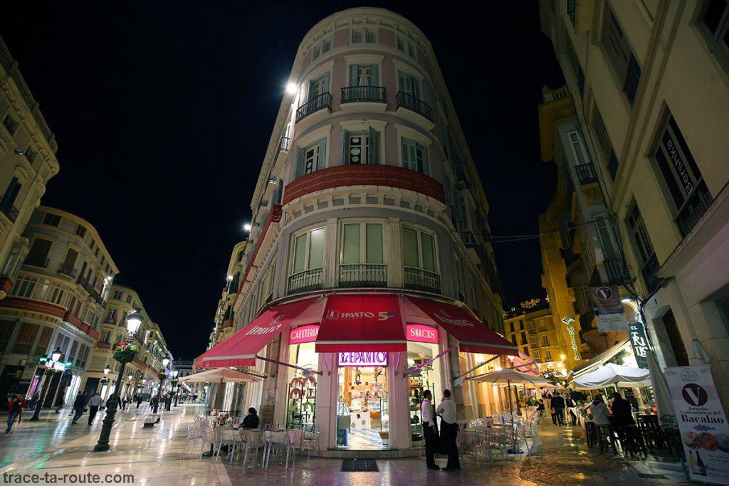 Lepanto, Calle Marqués de Larios / Calle de Don Juan Diaz, Malaga Andalousie Espagne Sunset Spain Andalucia Espana shopping street night
