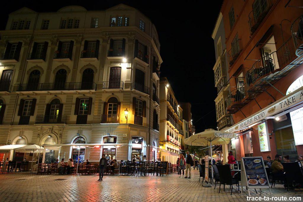 Plaza del Siglo et Plaza Carbon, Malaga