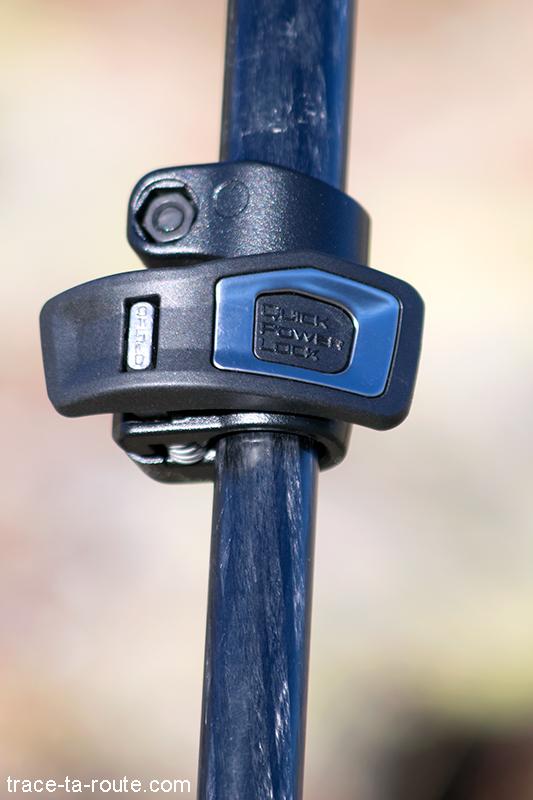 Test du trépied 190CXPRO4 Manfrotto avec la rotule 3D MHXPRO-3W - Clip verrouillage pied