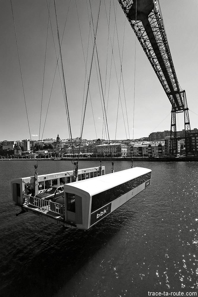 Nacelle du Pont de Biscaye (Puente Vizcaya / Puente Colgante Bizkaia) - Portugalete / Getxo, Bilbao, Pays Basque