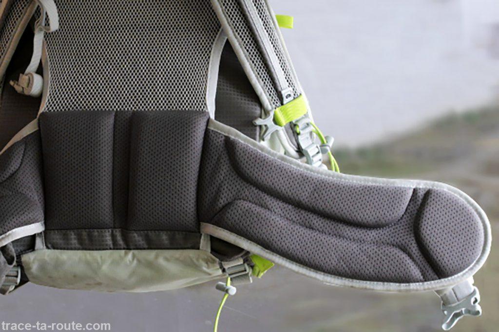 Dos et ceinture du sac à dos MANFROTTO OFFROAD 30L randonnée photo