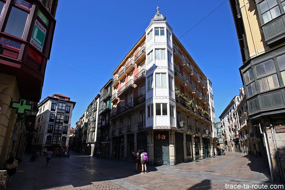 Gerrikogin kalea et Dendarikale dans Casco Viejo de Bilbao