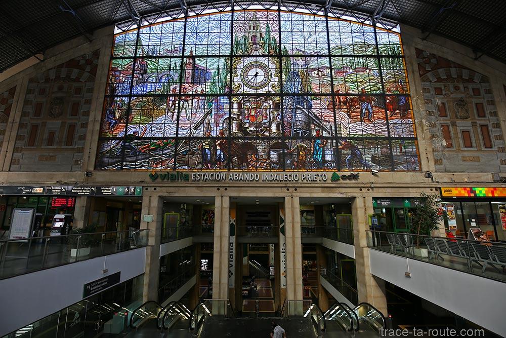 Verrière de vitraux de la Gare d'Abando de Bilbao