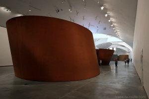 """Salle sculptures """"La matière du temps"""" (1994) Richard SERRA - Musée Guggenheim Bilbao"""