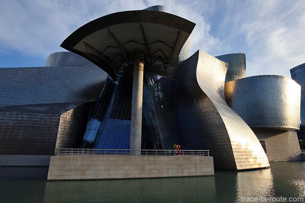Terrasse extérieure du Musée Guggenheim Bilbao