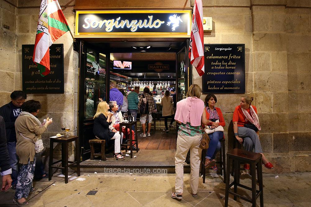 Restaurant tapas Bar à pintxos Sorginzulo - Plaza Nueva Bilbao