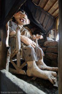 Le Troll dans sa cabane à Keflavik en Islande