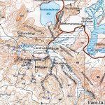 Carte de randonnée de Landmannalaugar en Islande