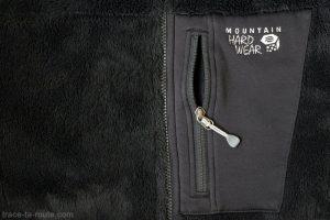Poche extérieure Polartec Powerstretch et Zip - Polaire Monkey 200M Mountain Hardwear