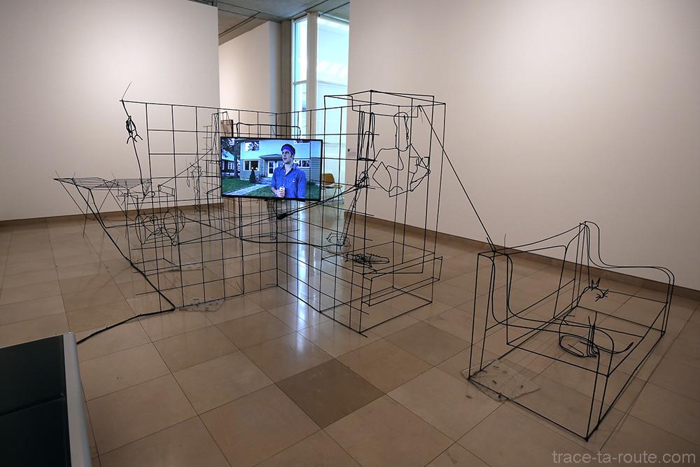 Rationalized room (2014) Neil BELOUFA - Exposition Prix Marcel Duchamp 2015 Carré d'Art de Nîmes
