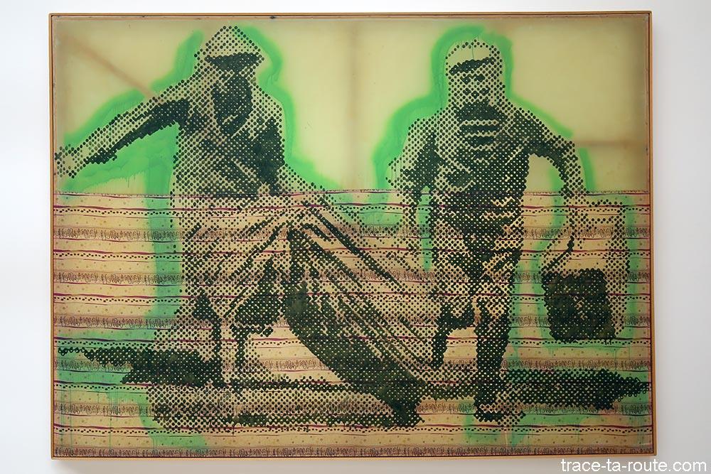 """Flüchtende (1992) Sigmar POLKE - Exposition """"Formes biographiques"""" Carré d'Art de Nîmes"""