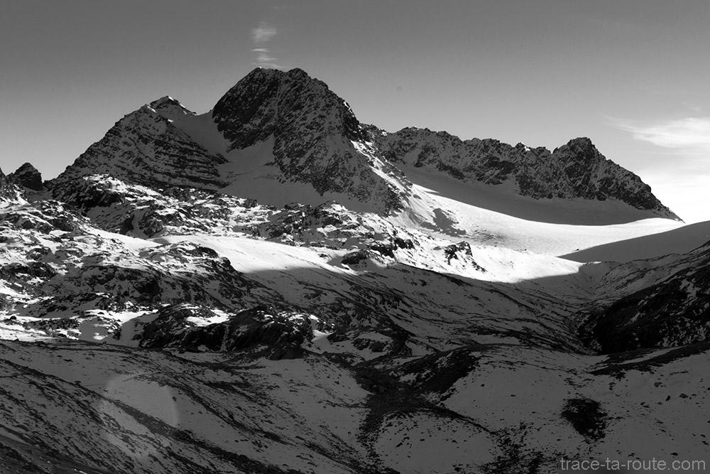 Le Glacier de Saint-Sorlin, le Mont Péaiaux, la Cime de la Valette et la Cime du Grand Sauvage - Maurienne Savoie