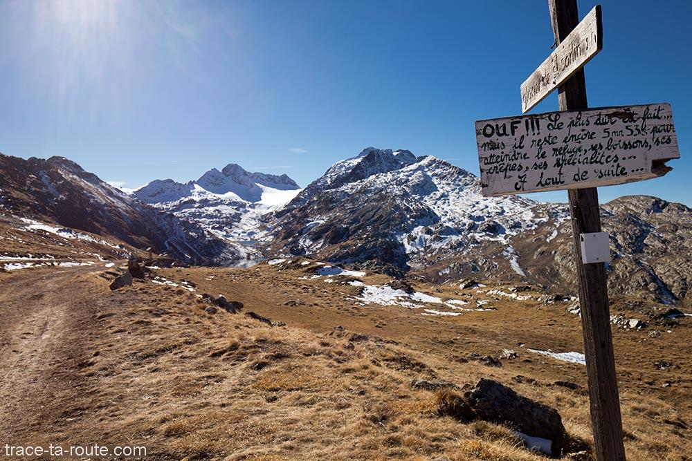 Lazard / Col des Tufs (entre le Lac Bramant et le Col de la Croix de Fer) avec le Lac Bramant et le Glacier de Saint-Sorlin - Maurienne Savoie
