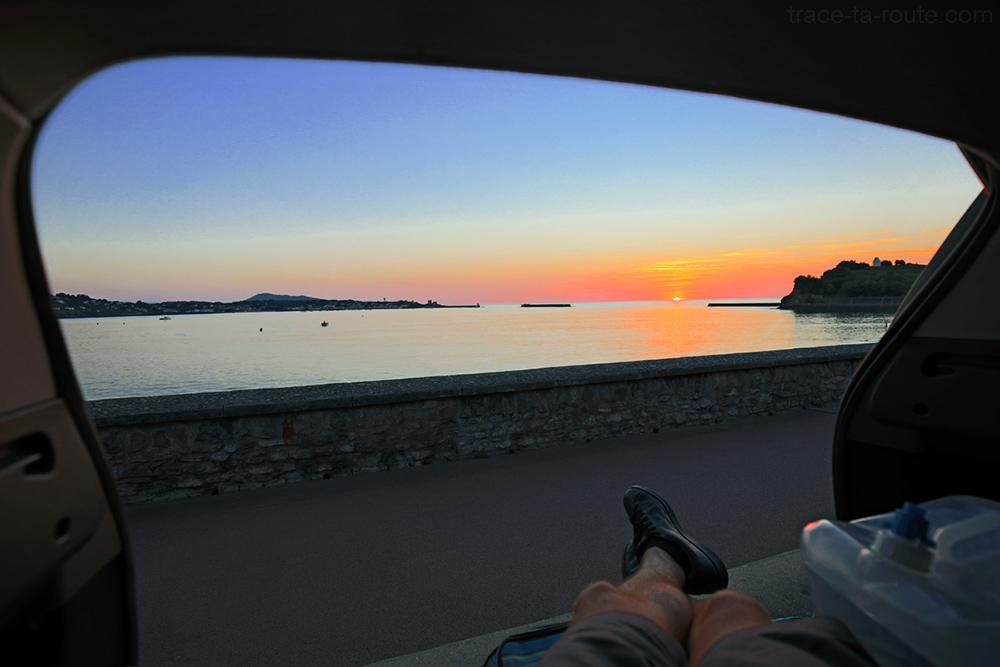 Coucher de soleil sur l'Océan à Saint-Jean-de-Luz