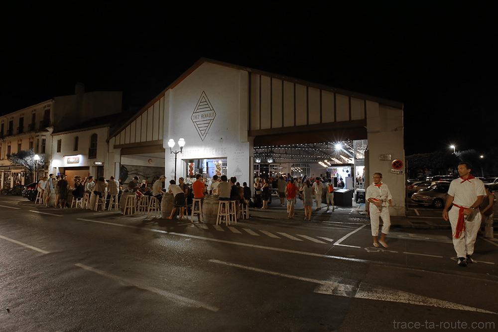 """Terrasse du bar éphémère """"Chez Renauld"""" à Saint-Jean-de-Luz (2015)"""