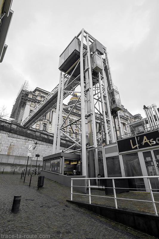 Ascenseur des Marolles et Palais de Justice de Bruxelles
