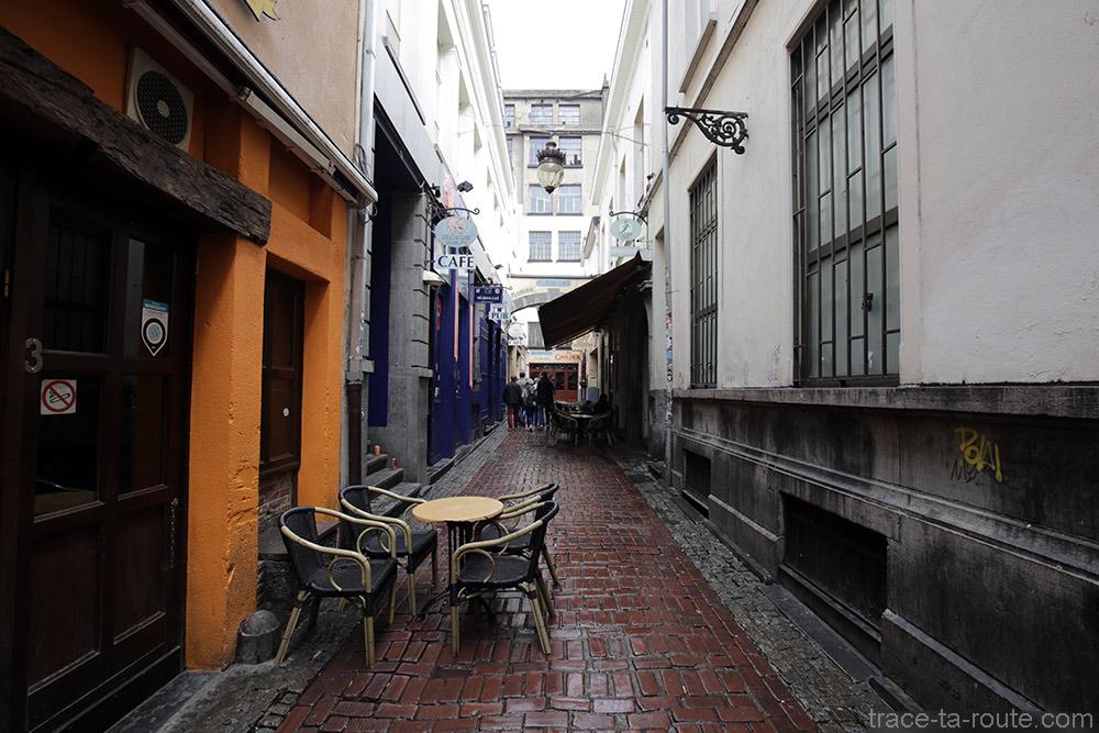 Rue des bars Delirium Café, Impasse de la Fidélité à Bruxelles