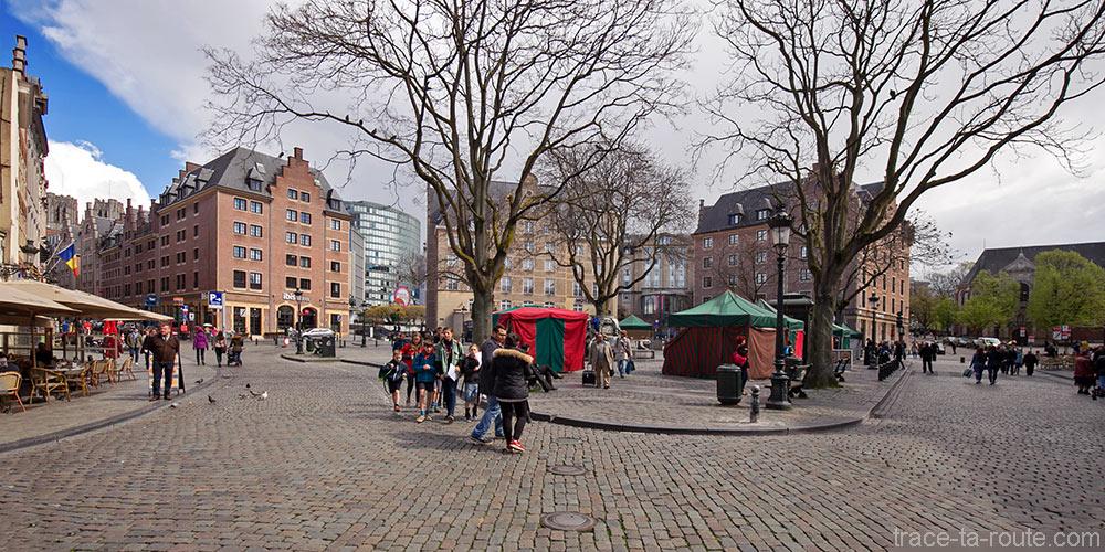 Place du Marché aux Herbes à Bruxelles