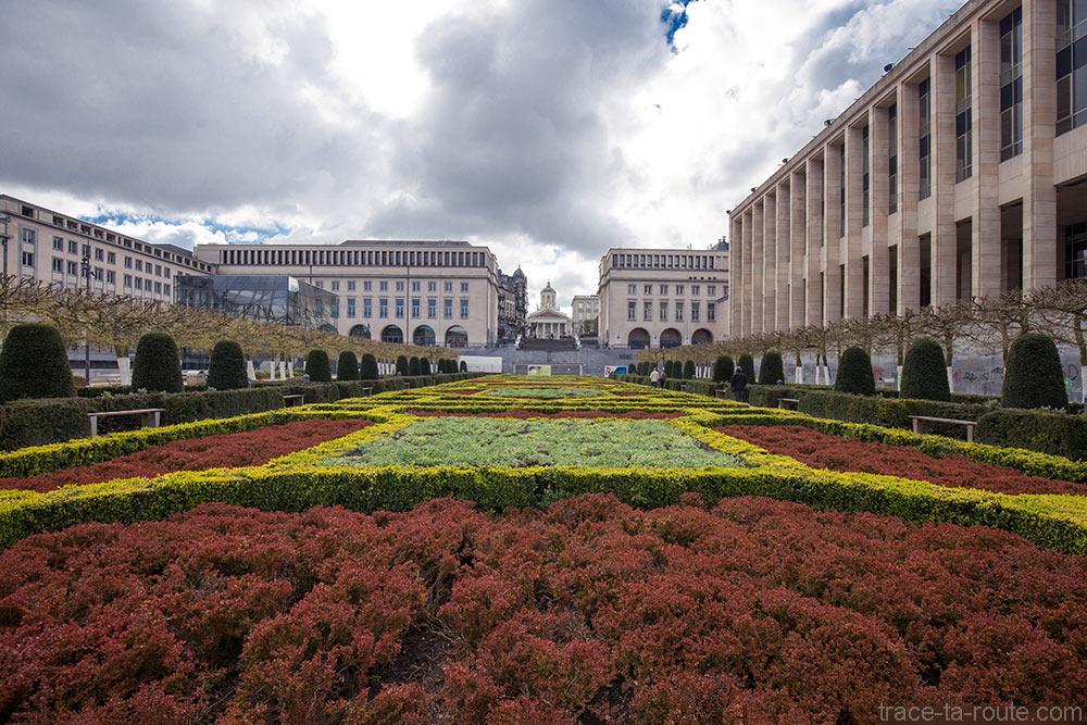 Le Jardin du Mont des Arts à Bruxelles