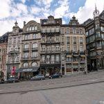 Façades d'immeubles et MIM (Musée des Instruments de Musique, architecture Art Nouveau Bruxelles)