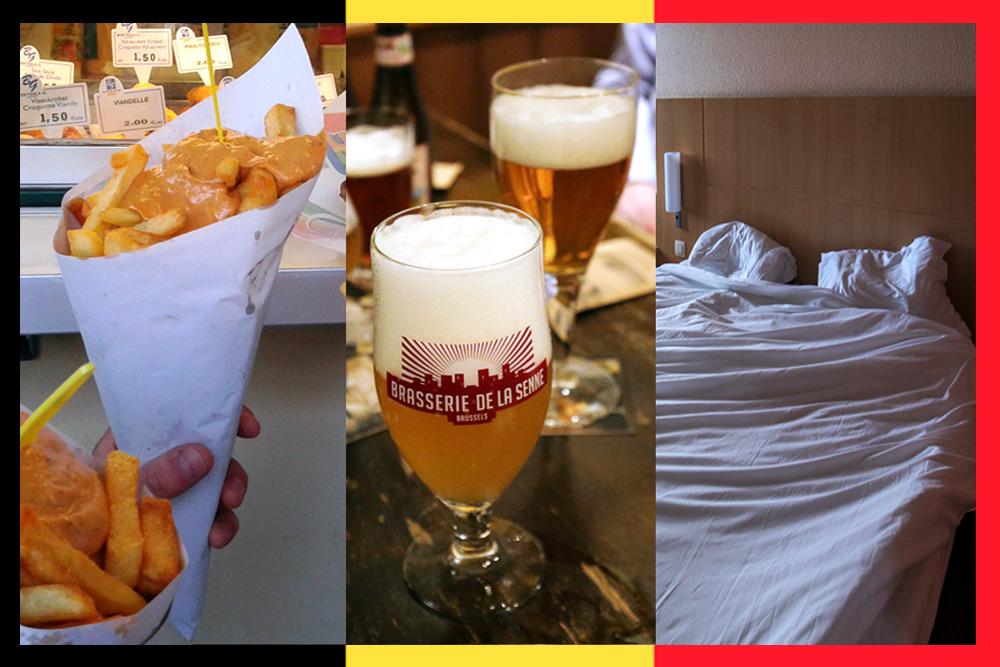 Belgique : Manger des frites, Boire de la bière et Dormir à Bruxelles
