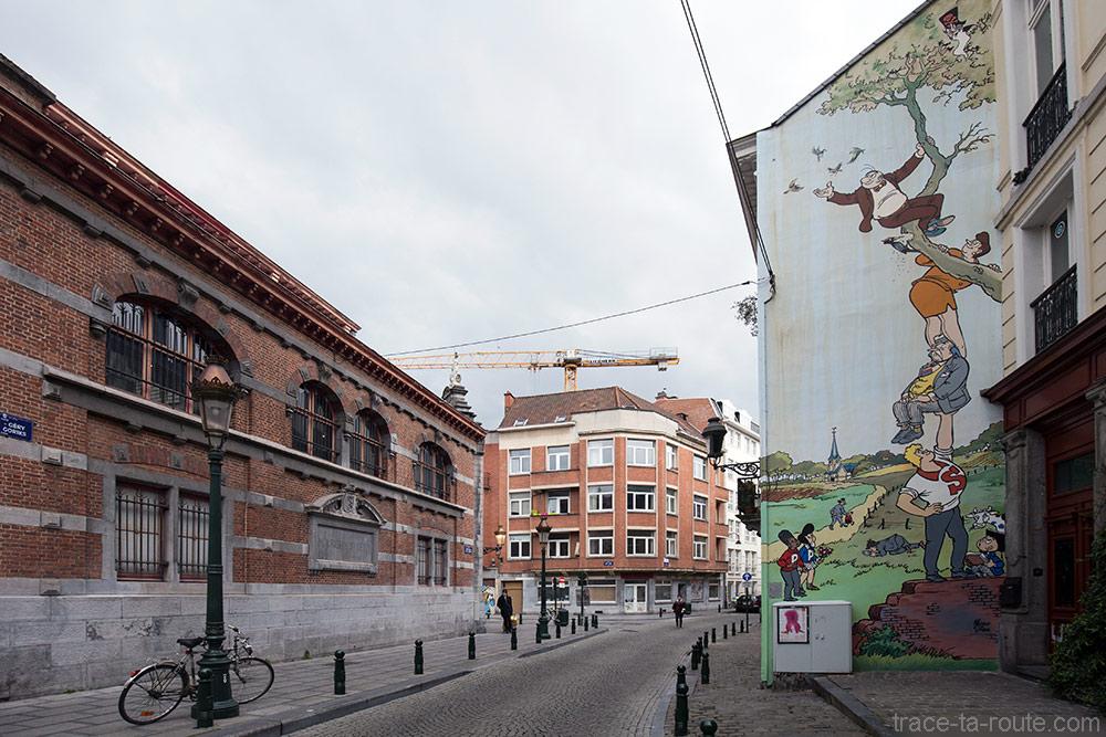Fresque BD - Néron (Marc Sleen) - Place Saint-Géry, Bruxelles