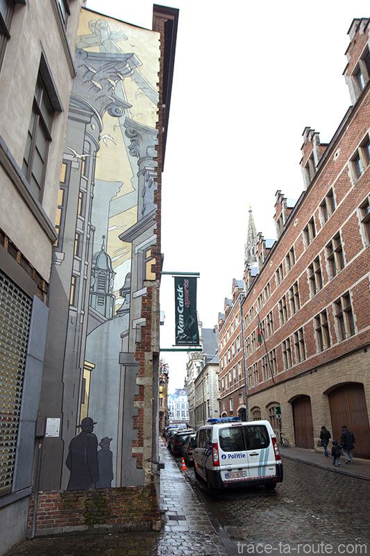 Fresque BD - Le Passage (François Schuiten) - Rue du Marché du Charbon, Bruxelles