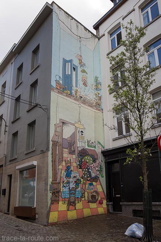 Fresque BD - Jojo (André Geerts) - Rue Pieremans, Bruxelles