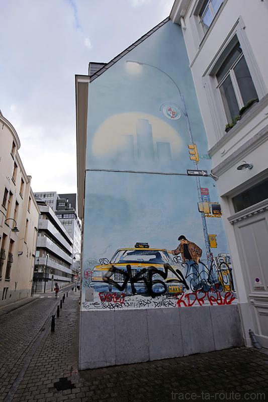 Fresque BD - XIII (William Vance, Jean Van Hamme) - Rue Philippe de Champagne, Bruxelles