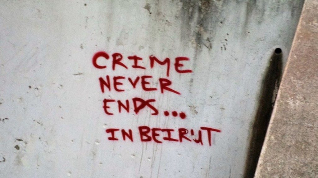 sur les murs de Beyrouth