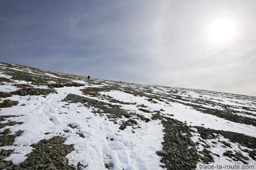 Plateau incliné final du Grand Colon en Belledonne