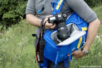 Rangement reflex compartiment photo Test Sac à dos photo randonnée LowePro Photo Sport BP 300 AW II