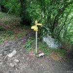 Sentiers itinéraires de randonnée à la Croix du Nivolet par le Pas de l'Échelle depuis Lovettaz