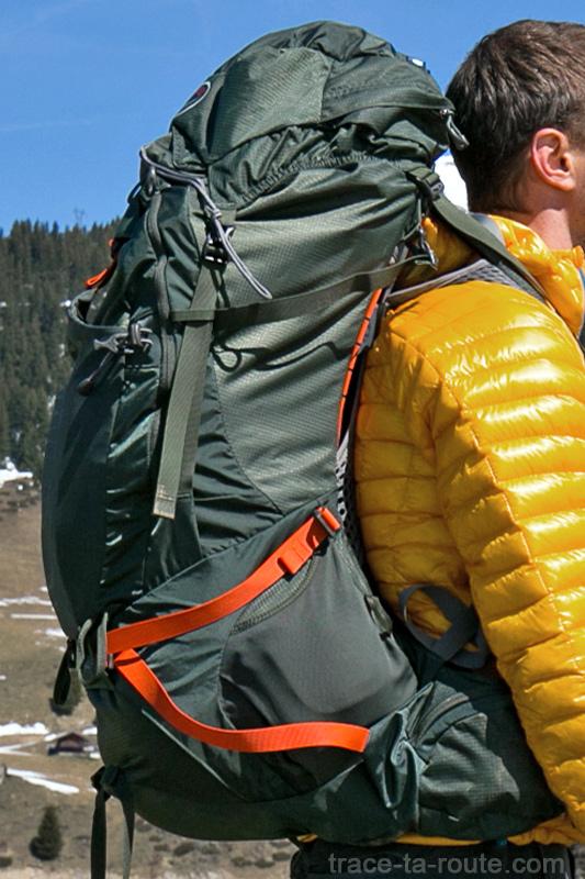 Test du sac à dos Osprey Atmos AG 65 : portage et sangles