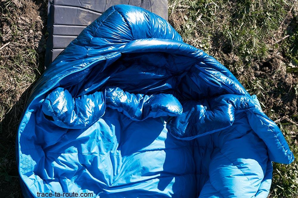Intérieur du sac de couchage PHANTOM TORCH 3° de Mountain Hardwear