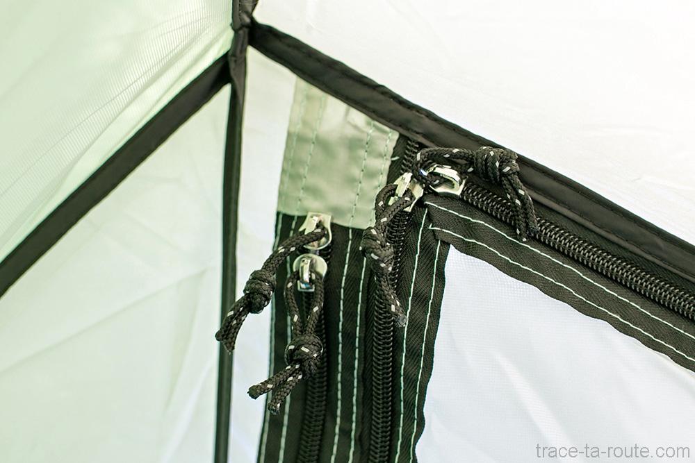 Zip d'ouverture des portes de la tente Aravis 2 Coleman