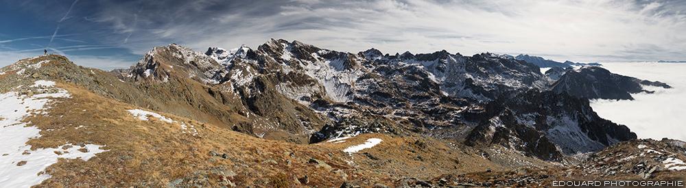 Chaine de Belledonne depuis le sommet du Grand Colon