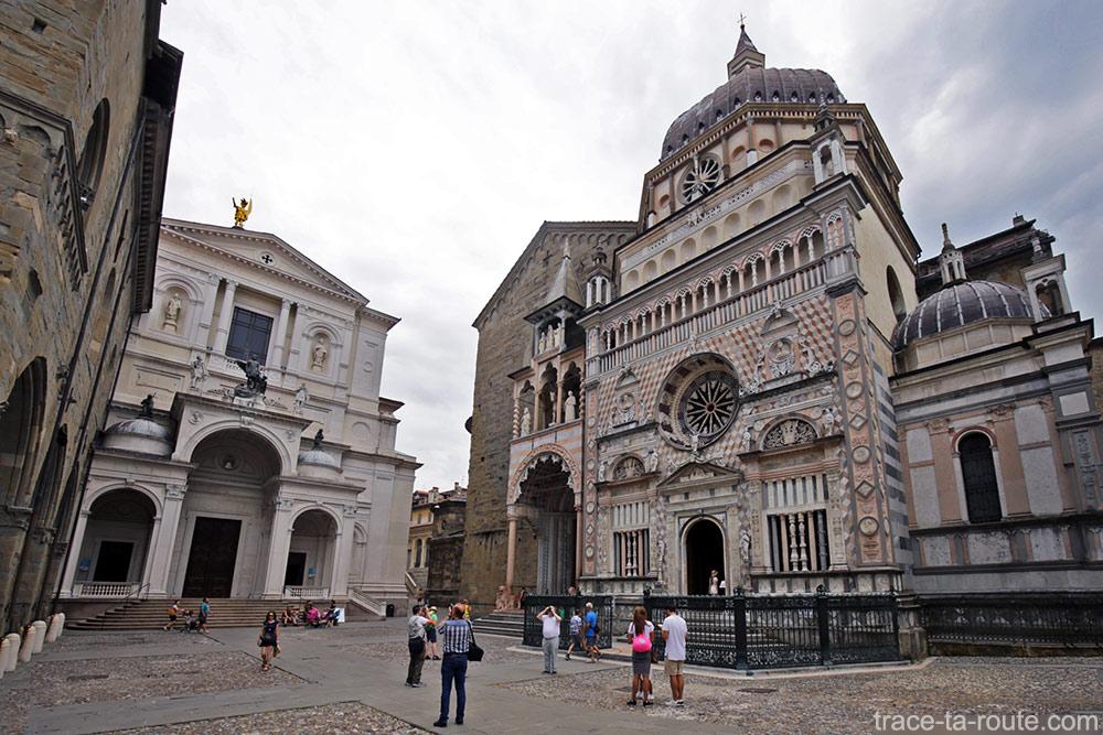 Cathédrale de Bergame, Basilique Santa Maria Maggiore et Chapelle Colleoni sur la Piazza Duomo de Bergame (Città Altà Bergamo)