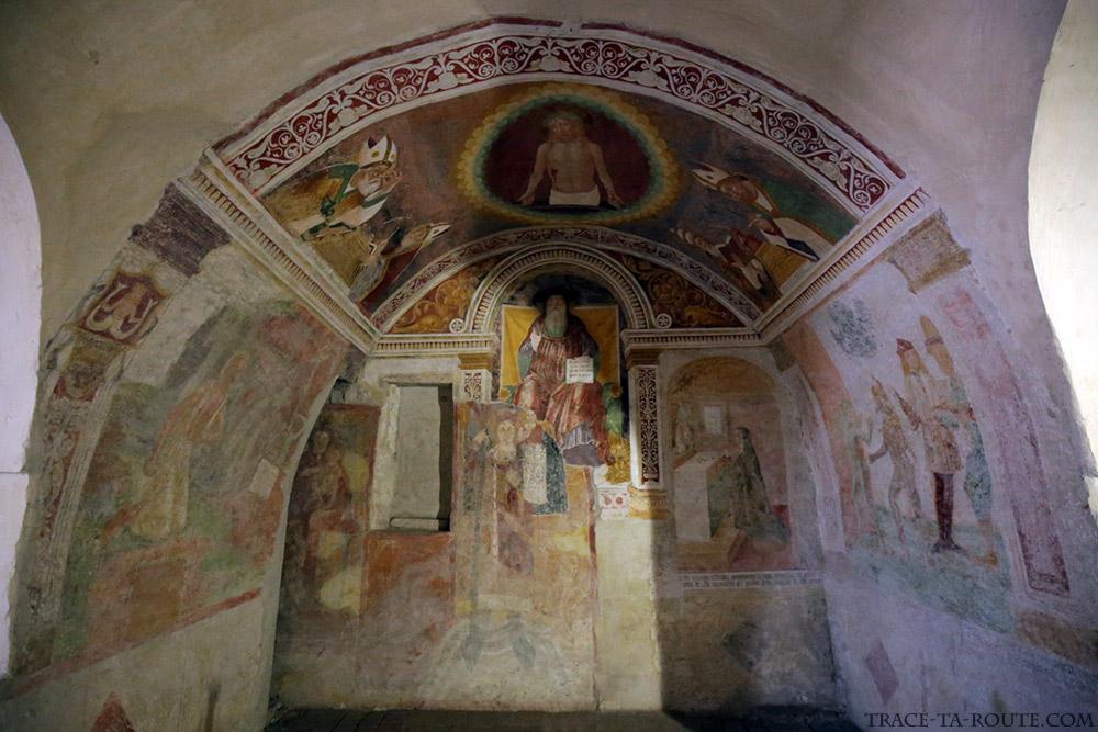 Fresques Lorenzo Lotto Eglise San Michele al Pozzo Bianco de Bergame (Città Altà Bergamo)