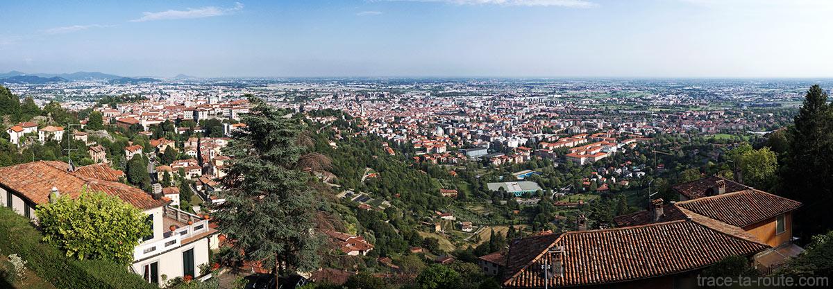 Vue panoramique sur Bergame (Città Altà Bergamo)