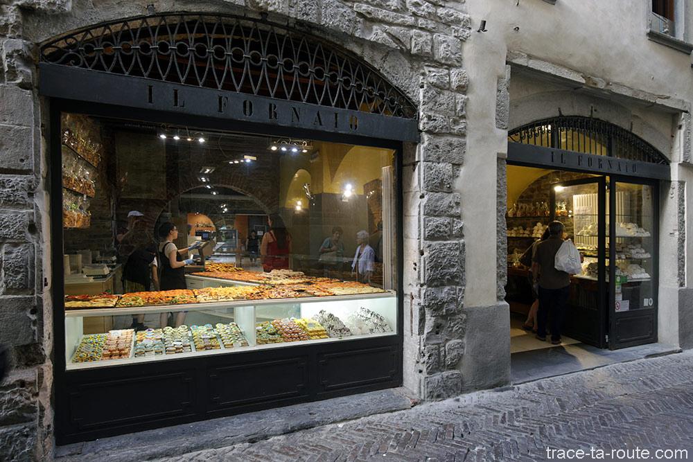 Vitrine pizzeria Il Fornaio à Bergame (Città Alta Bergamo)