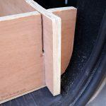 Bricolage : emboitement planches pour structure démontable aménagement sur mesure coffre break Dacia Logan MCV pour dormir dedans - Road Trip