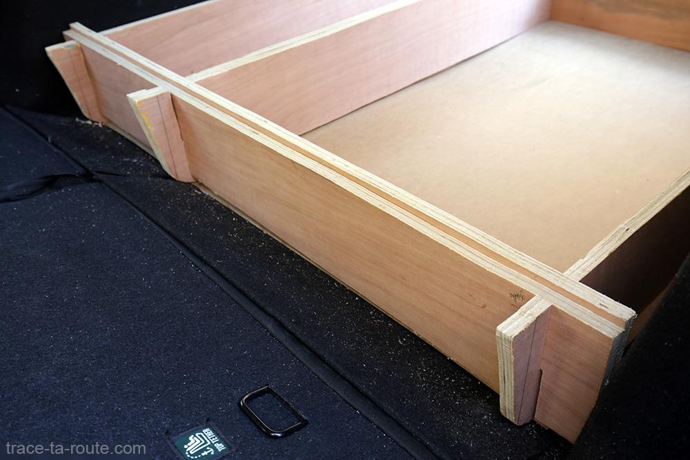 Bricolage : structure aménagement break Dacia Logan MCV pour dormir dedans - Road Trip