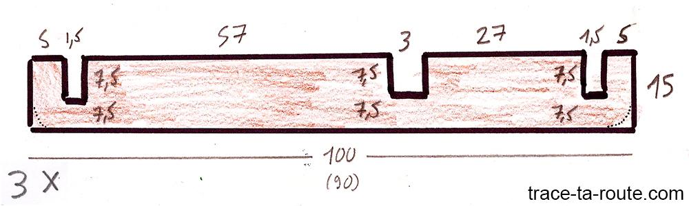 Plan découpe planches en bois avec côtes pour aménagement break Dacia Logan MCV pour dormir dedans - Road Trip