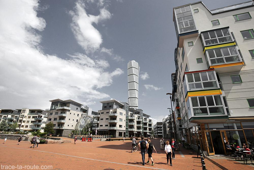 Bâtiment Turning Torso à Västra Hamnen à Malmö en Suède